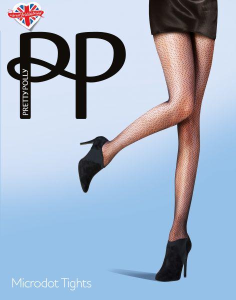 Pretty Polly Microdot - Elegant strumpbyxa med prickmönster