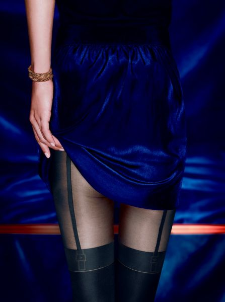 Kunert Feminine Seduction - Elegant strumpbyxa i trendigt stockings-look