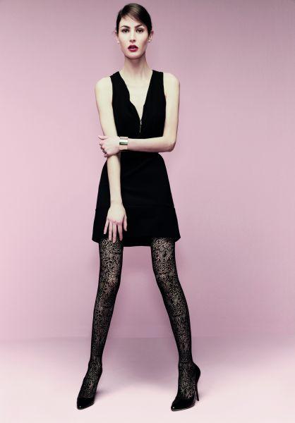 Elegant strumpbyxa med mönster i spets-look Farrah från Omero
