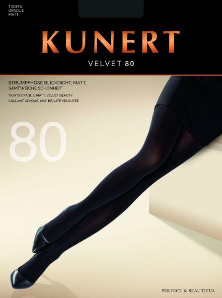 Strumpbyxor utan mönster Velvet 80 från Kunert