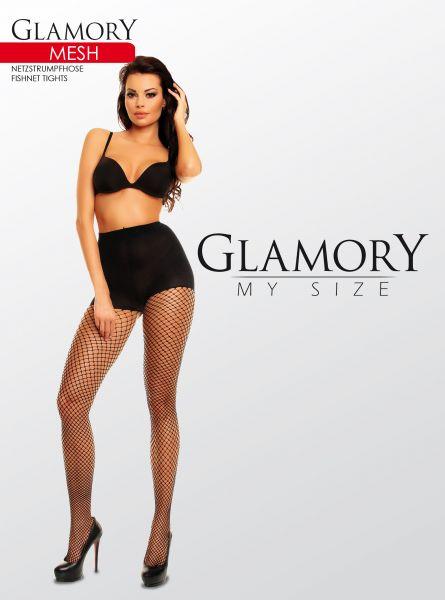 Slät plus size nätstrumpbyxa Mesh från Glamory