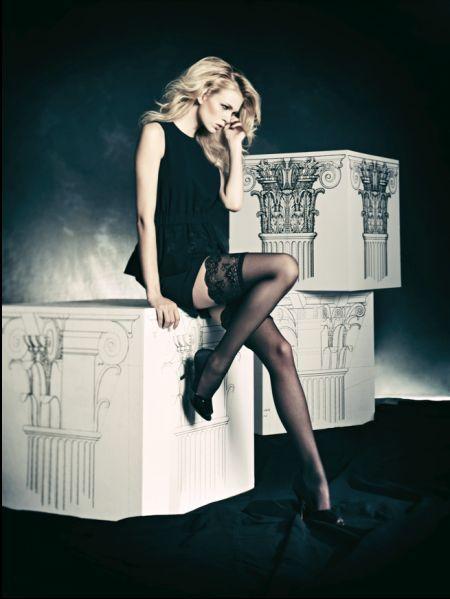 Omero Eleganta stay ups med dekorationsband Intrigante Tulle