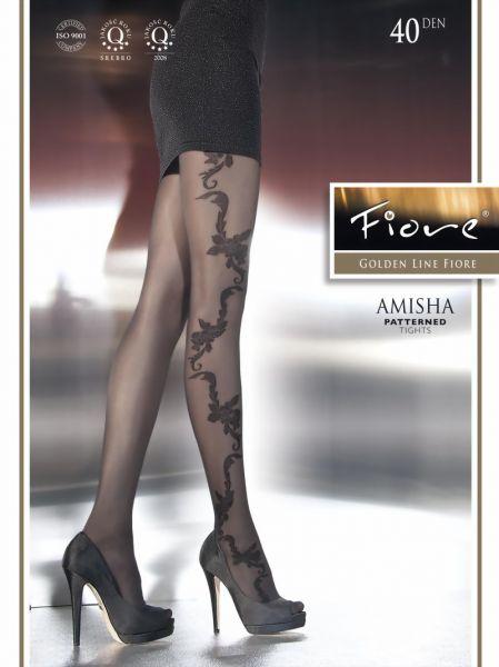 Fiore Tunn strumpbyxa med blommigt moenster Amisha, 40 den