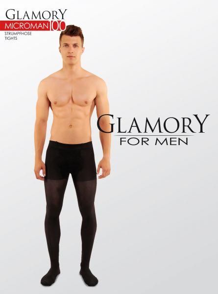 Heltäckande plus size strumpbyxa för män i microfiber Microman från Glamory