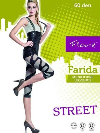 3/4-leggings i microfiber med m