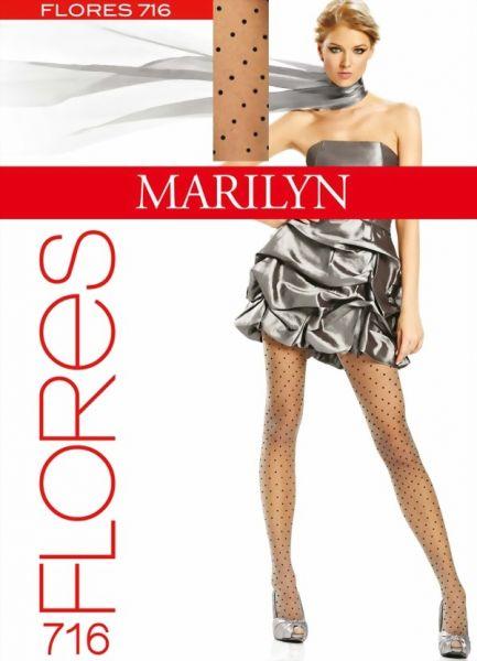 Marilyn Tunna strumpbyxor med prickmoenster Flores 20 DEN