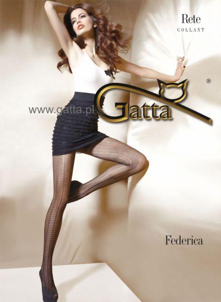 Gatta Extravaganta naetstrumpbyxor med genomgående moenster Federica 06