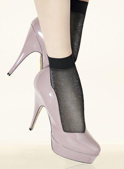 Glansiga sockor Sheherazade fr