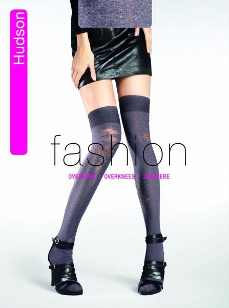 Hudson Overknee Used Melange i trendig used-look, 60 DEN