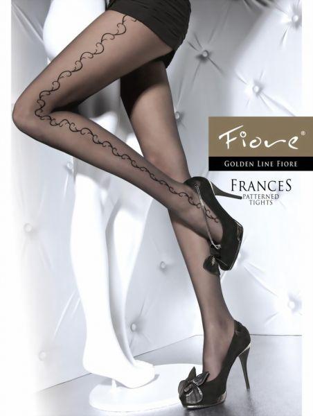Fiore Tunna strumpbyxor med floralt moenster Frances 20 DEN
