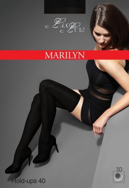 Marilyn Släta heltäckande stay ups, sömlös, Exclusive Hold Ups, 40 DEN