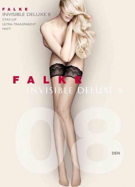 Falke Invisible Deluxe 8 den Stay-ups met spetskant