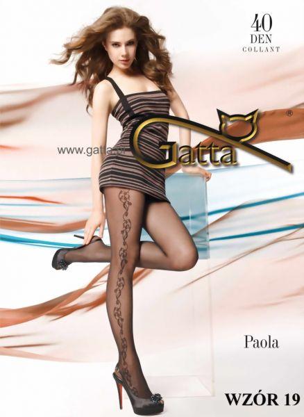 Gatta Strumpbyxor med blommigt moenster Paola 19, 40 DEN