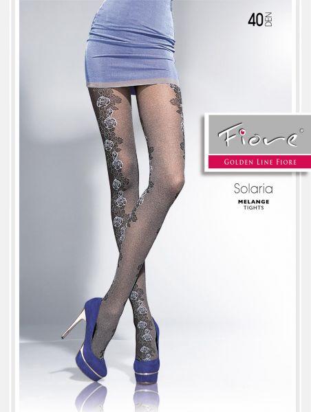 Elegant strumpbyxa med blommigt mönster Solaria från Fiore, 40 den