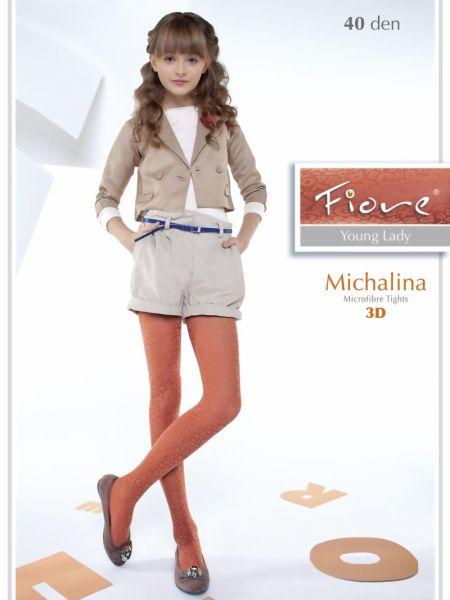 Fiore Trendig barnstrumpbyxa med moenster Michalina 40 den