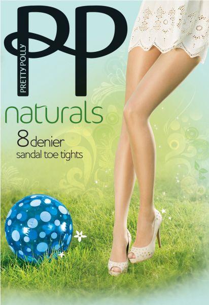 Extremt tunn strumpbyxa Naturals 8 DEN från Pretty Polly