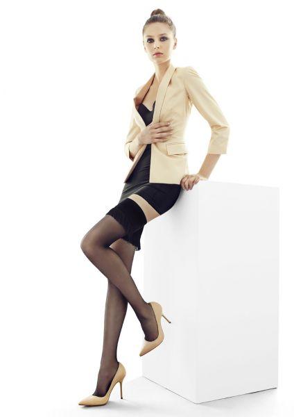 Marilyn Eleganta stay ups med förföriskt dekorationsband Coco