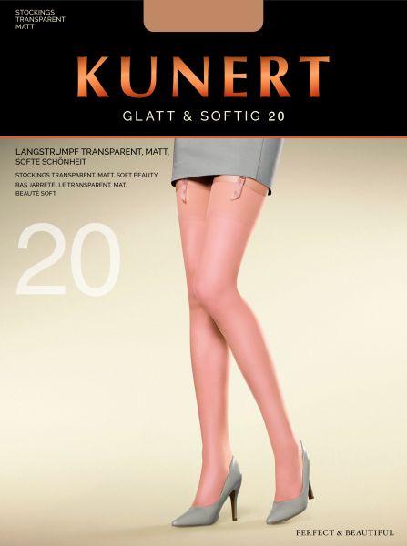 Kunert Glatt & Softig - Klassiska nylonstrumpor utan elastane
