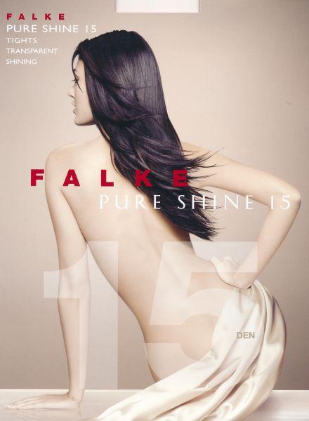 Falke Pure Shine 15 - Transparent glansig strumpbyxa utan mönster