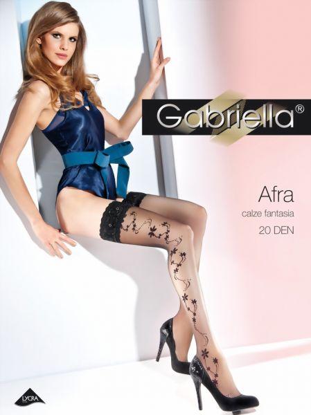 Gabriella Stay-ups med blommigt moenster Afra, 20 DEN