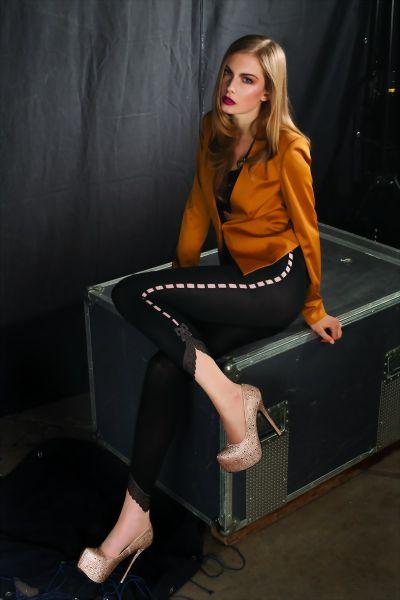 Trasparenze Strumpbyxor i trendigt leggings-look Premium