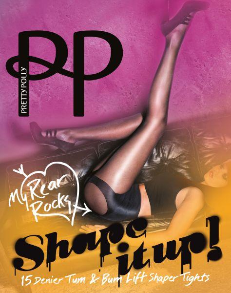 Figurformande push-up strumpbyxa Tum & Bum Lift Shaper Tights Shape It Up från Pretty Polly