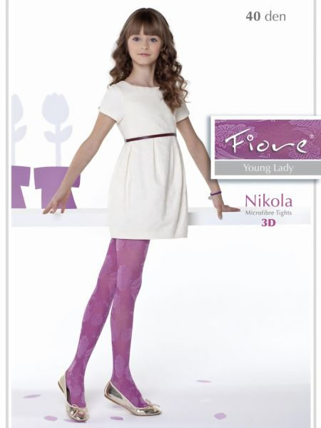 Fiore Trendig barnstrumpbyxa med blommigt moenster Nikola