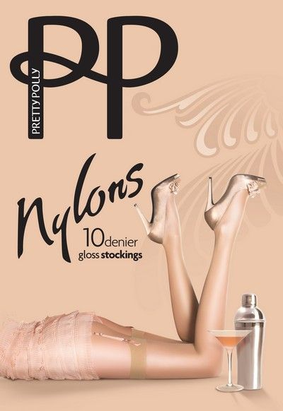 Glansiga stockings Nylons 10 DEN fr