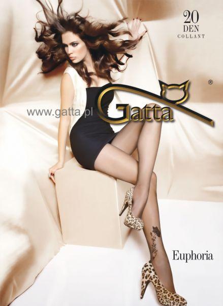 Gatta Tunna strumpbyxor med blommigt moenster Euphoria 08, 20 DEN