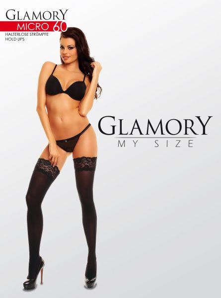 Släta heltäckande plus size stay ups Micro 60 DEN från Glamory