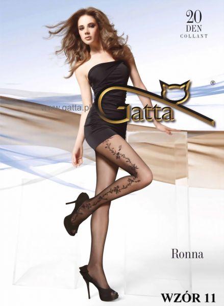 Gatta Eleganta tunna strumpbyxor med blommigt moenster Ronna 11, 20 DEN