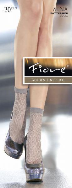 Fiore Eleganta tunna sockor med moenster Zena 20 DEN