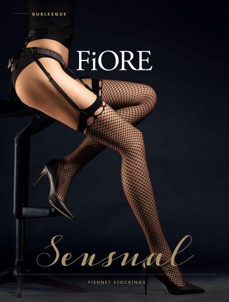 Nätstrumpor för strumpebandshållare Burlesque från Fiore
