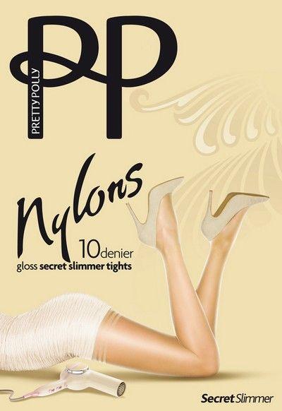 Glansig figurformande strumpbyxa Nylons 10 denier Secret Slimmer fr