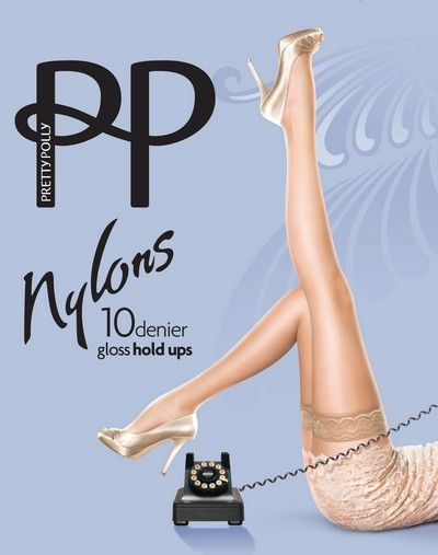 Glansiga stay ups Nylons 10 DEN fr